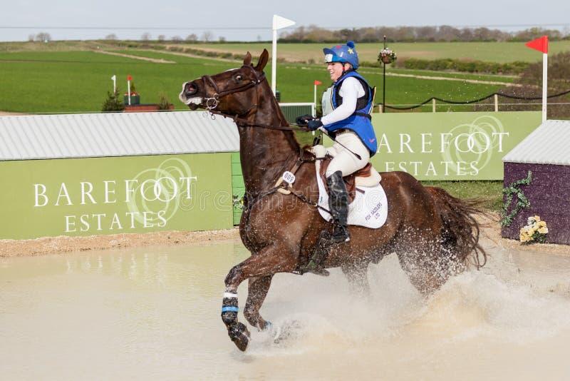 Burnham Market international horse trials 2017. BURNHAM MARKET, NORFOLK/ENGLAND - APRIL 15th 2017: Burnham Market International Horse Trials 2017 Sophie Platt royalty free stock image