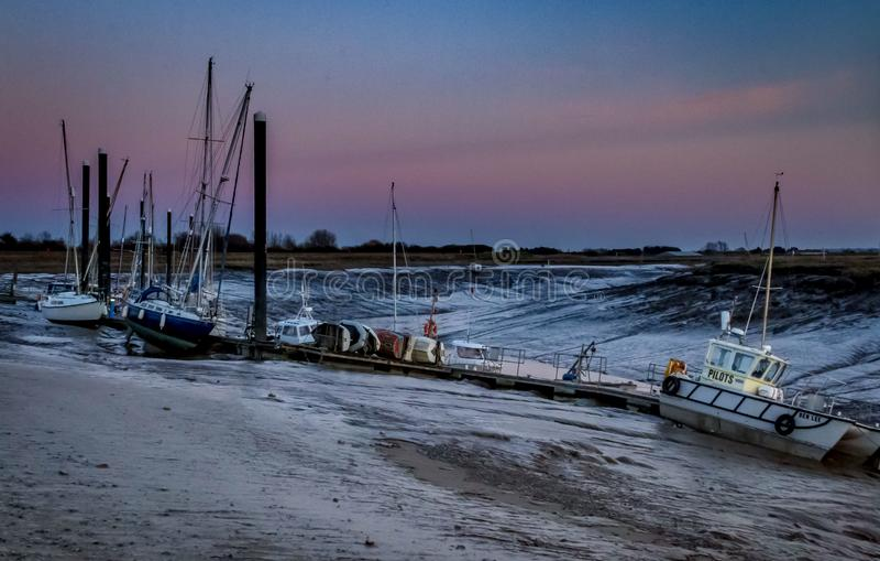 Burnham op Overzeese Haven bij zonreeks royalty-vrije stock foto