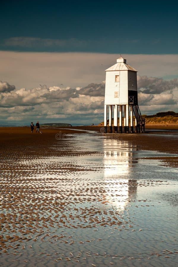 Burnham-on-sea Lighthouse, Somerset, U K lizenzfreie stockfotos