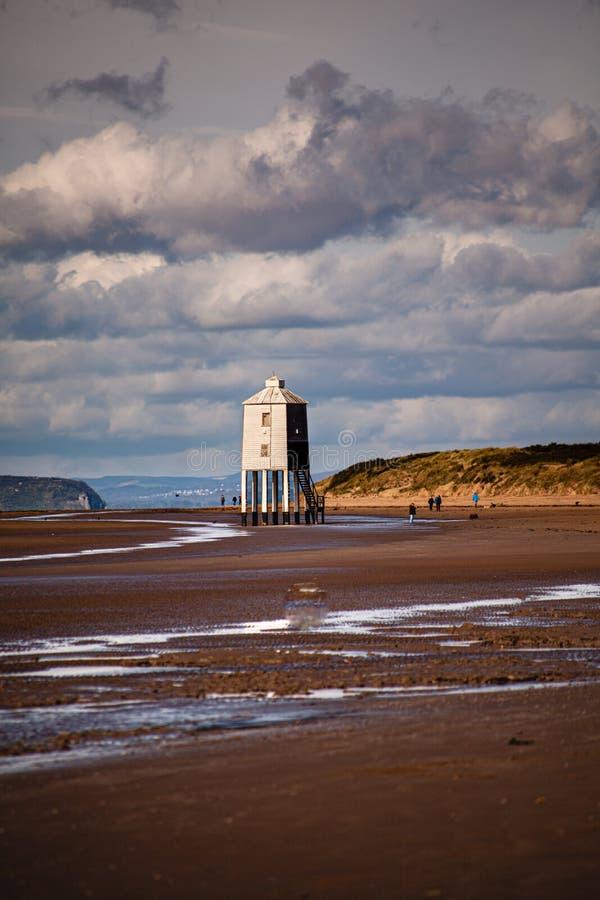 Burnham-on-sea Lighthouse, Somerset, U K lizenzfreies stockbild