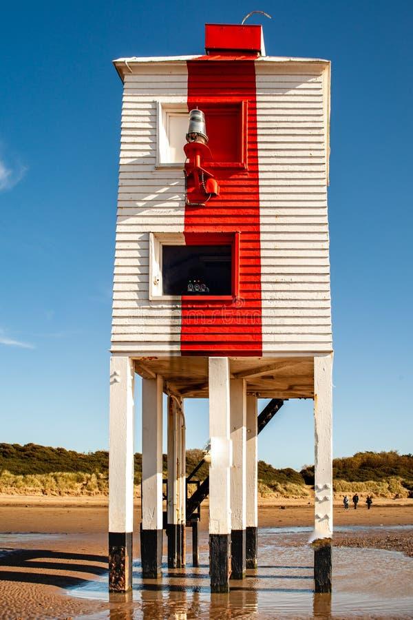 Burnham-on-sea Lighthouse, Somerset, U K stockbilder