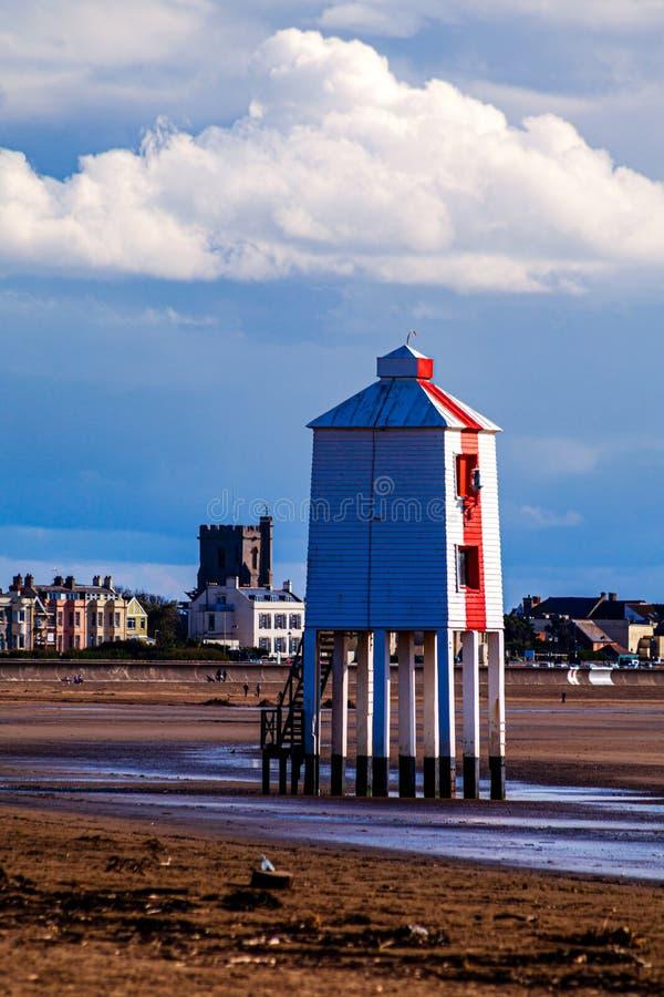 Burnham-on-sea Lighthouse, Somerset, U K stockfotos