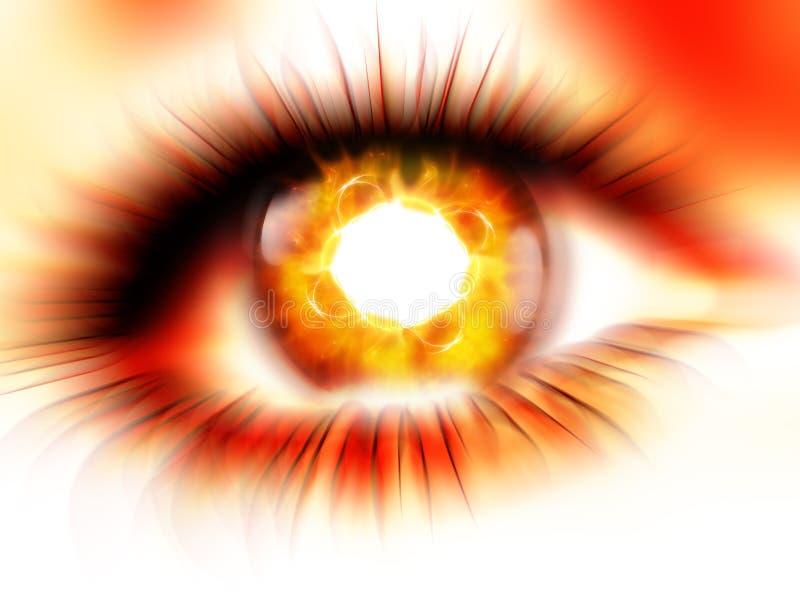 burning ögon stock illustrationer