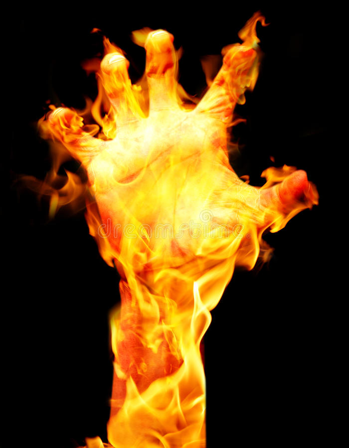 Burning arm royalty free stock photos
