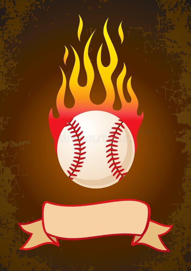 Free Burning Baseball Royalty Free Stock Photo - 21106895