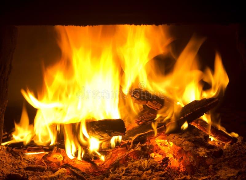 burning brandpanna royaltyfria foton