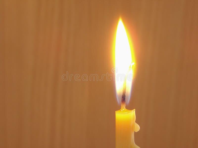 Burning candle 1 stock image