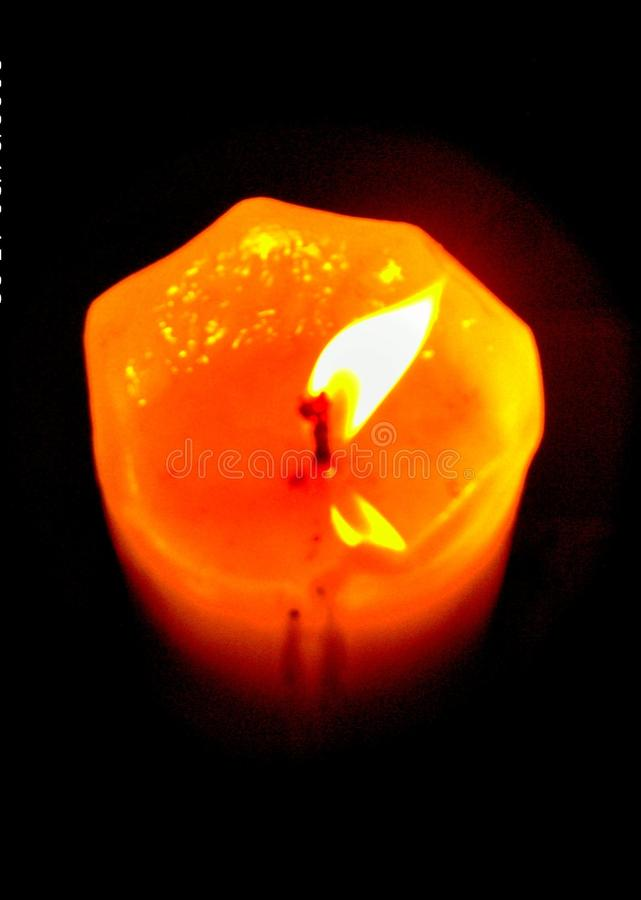 Download Burning Candle stock photo. Image of flaming, wick, candle - 10918560