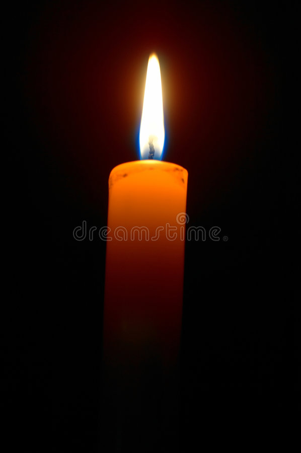 Download Burning candle stock image. Image of light, holiday, black - 2210617