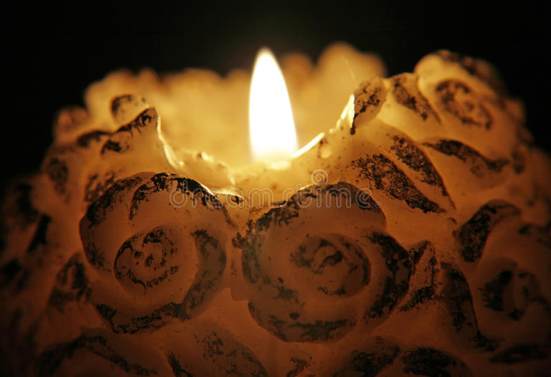 Download Burning candle stock photo. Image of darkness, flame - 24018920