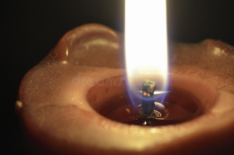 Download Burning candle stock image. Image of flame, wick, closeup - 24165305