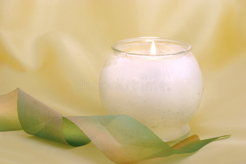 Download Burning candle stock image. Image of satin, soft, background - 465099