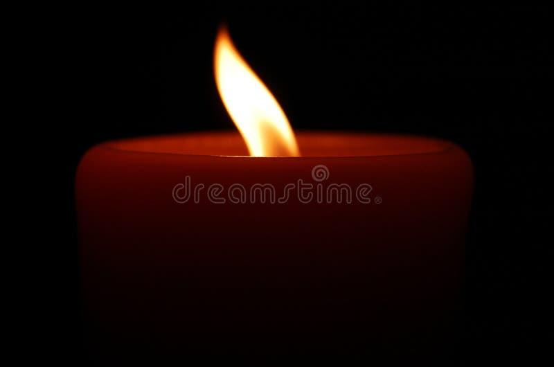 Download Burning Candle On Black Background Stock Image - Image of fire, burning: 21961941