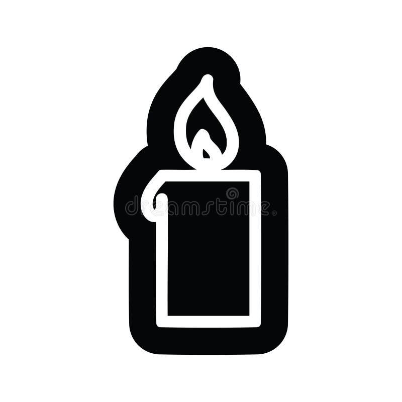 burning candle icon royalty free illustration