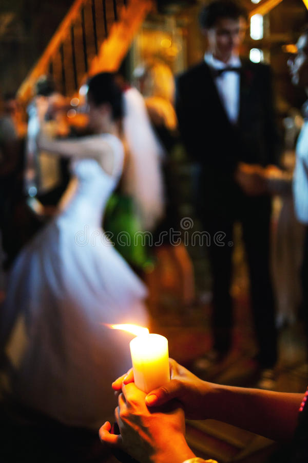 Free Burning Candle Wedding Ceremony Royalty Free Stock Image - 32519116