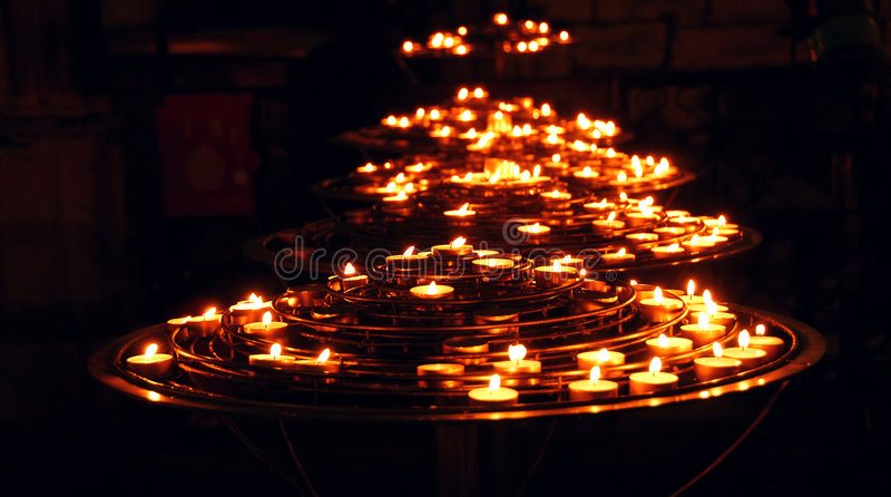 Download Burning candles stock photo. Image of glow, cathedral - 1501240