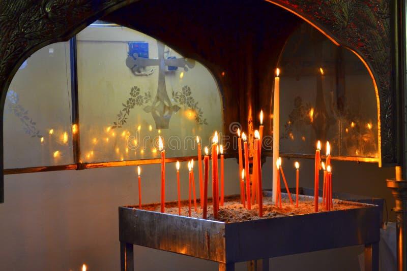 Burning candles royalty free stock photo