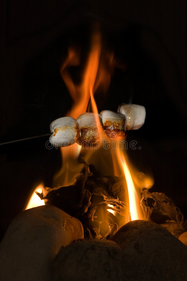 Burning candy royalty free stock photography
