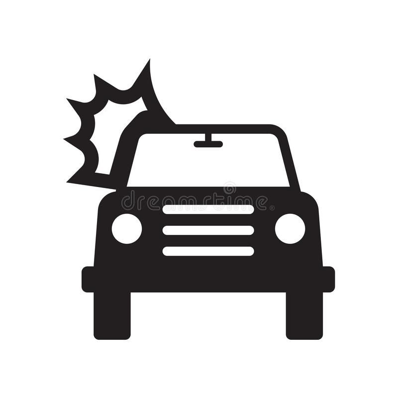 Burning car icon. Trendy Burning car logo concept on white background from Insurance collection royalty free illustration