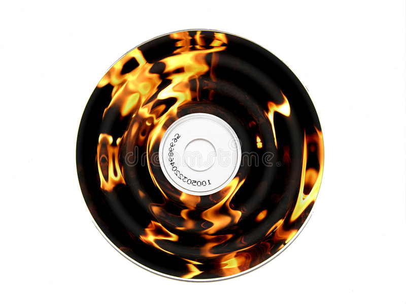 Burning CD. A concept for CD burning royalty free stock image