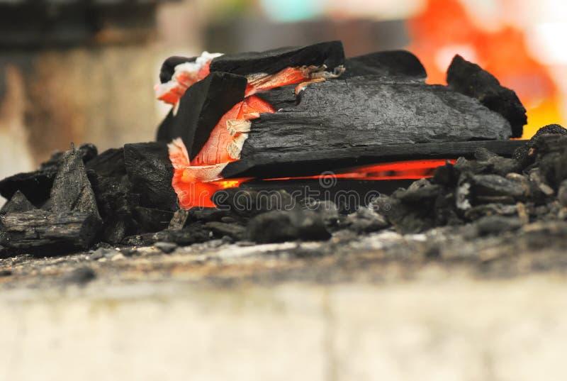 Burning Charcoal royalty free stock photos