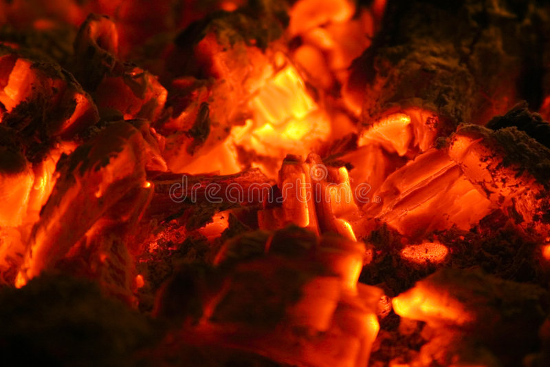Burning Charcoal royalty free stock image