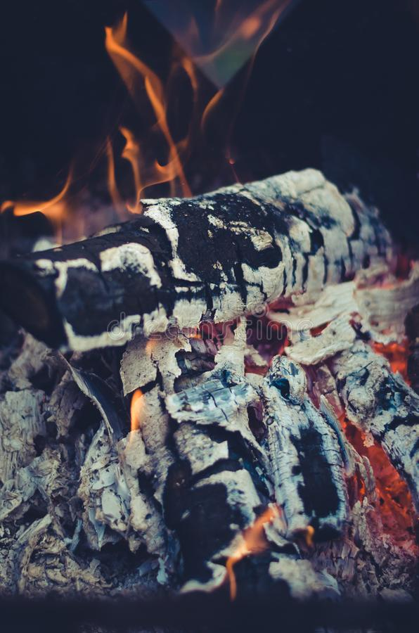 Burning charcoal on charcoal grill/burning charcoal on charcoal grill on the outdoor. Burning charcoal on charcoal grill /burning charcoal on charcoal grill on stock images