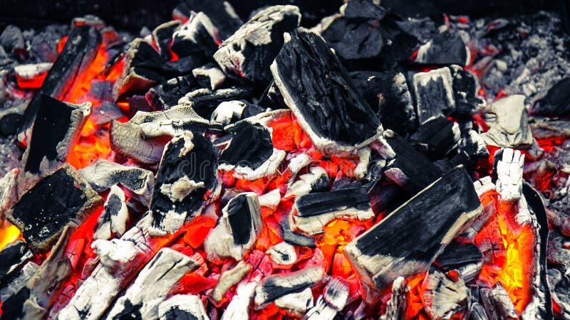 Burning charcoal royalty free stock photo