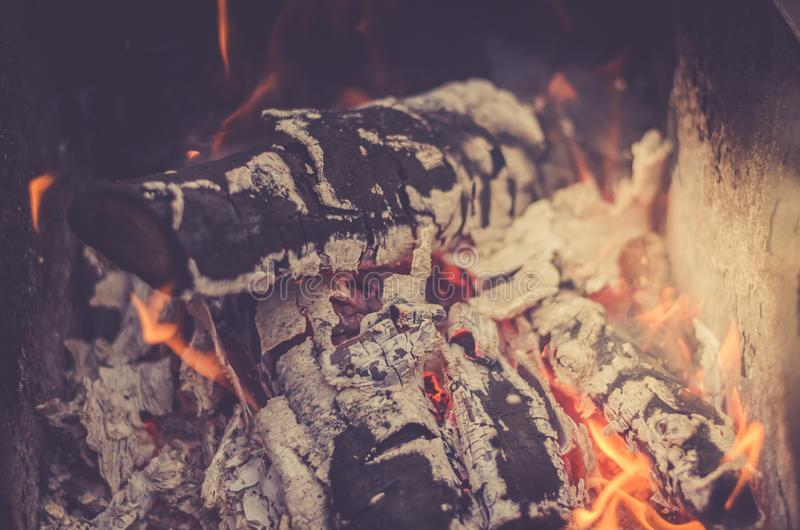 Burning charcoal on charcoal grill/flame of burning coals. Fire. burning charcoal on charcoal grill/ flame of burning coals royalty free stock photography