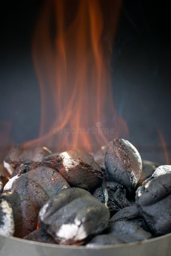 Burning Charcoal stock photography