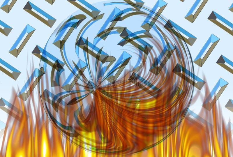 Download Burning Chrome Ball stock illustration. Illustration of digital - 79404