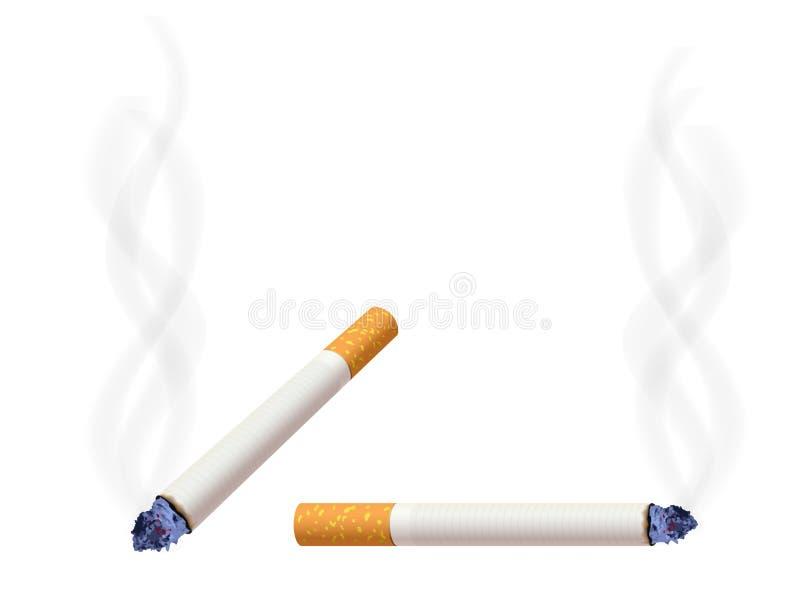 burning cigarett vektor illustrationer