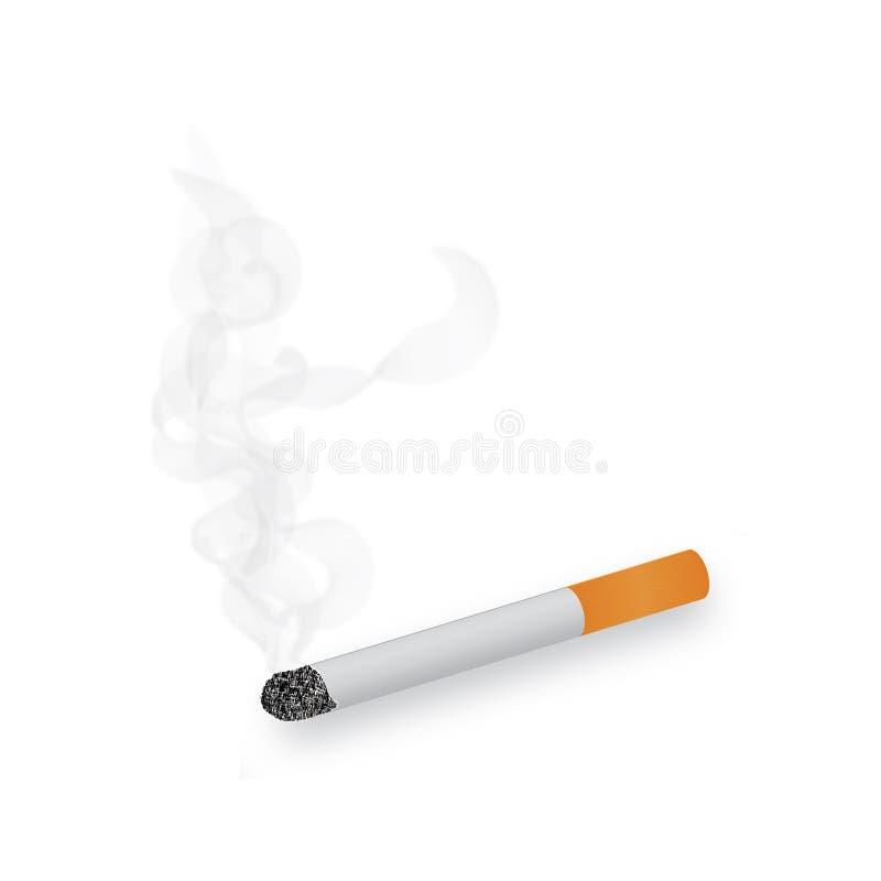 burning cigarettrök vektor illustrationer