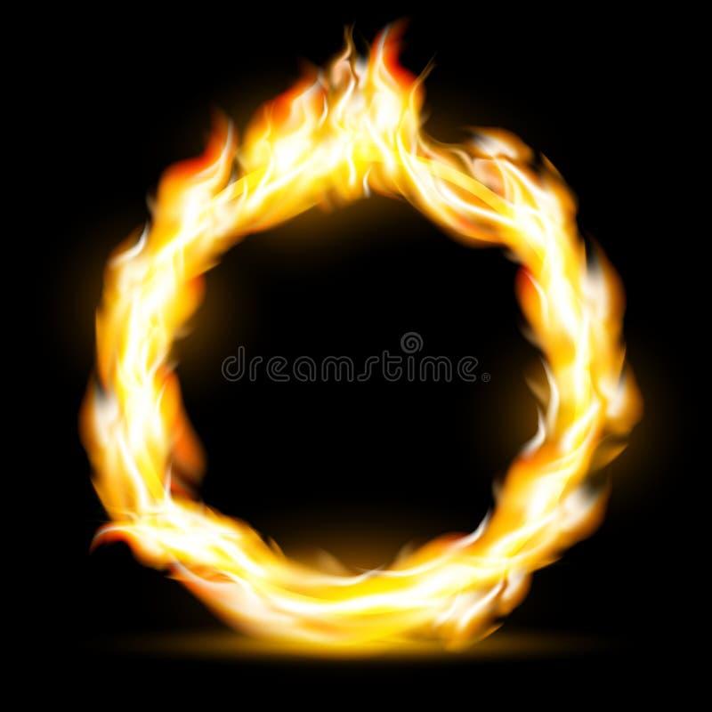 burning cirkel för illustrationorange för bakgrund ljust materiel stock illustrationer