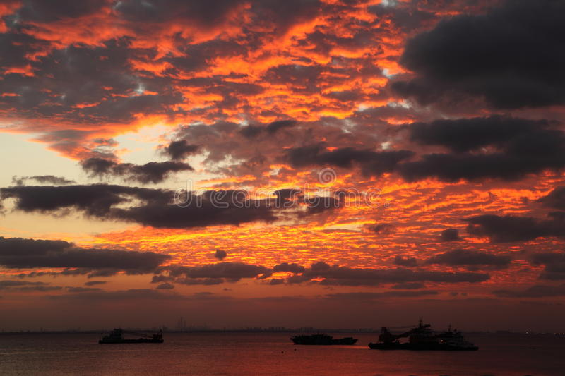 Download Burning Clouds Stock Photography - Image: 27351072