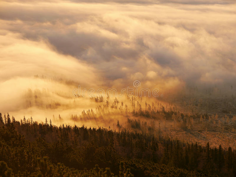 Download Burning clouds stock image. Image of clouds, illuminated - 62114995