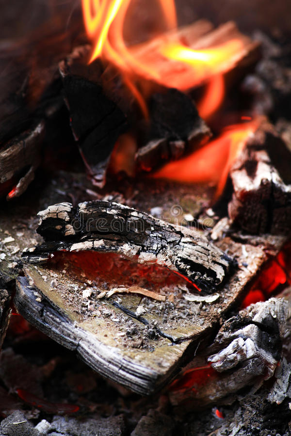 Burning coal royalty free stock image