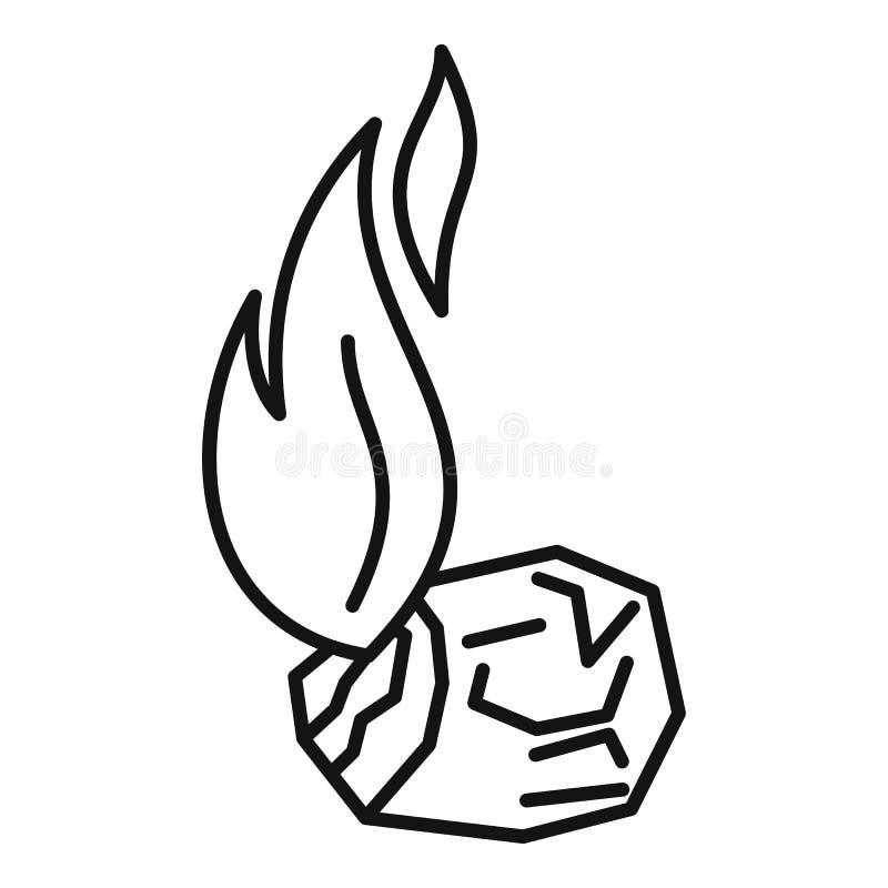 Free Burning Coal Icon, Outline Style Stock Photography - 160127562