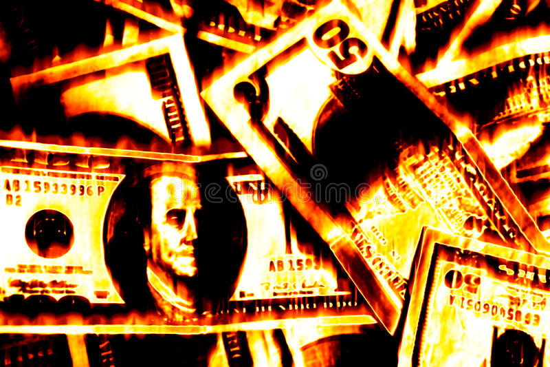 Burning d'argent photos stock