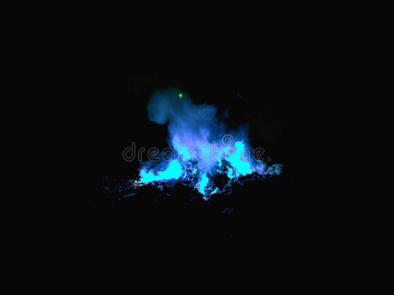 Burning da chama azul fotografia de stock