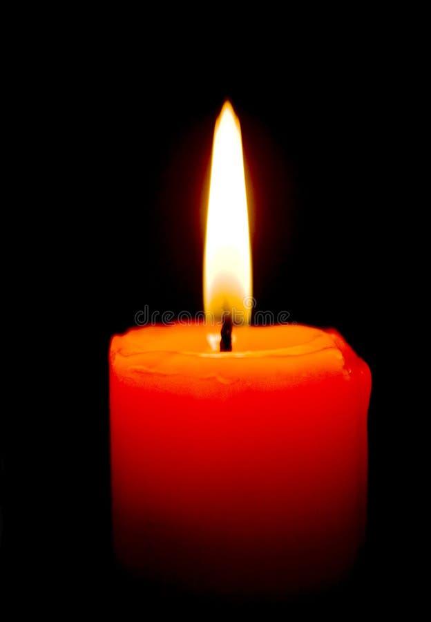 Burning de la vela fotografía de archivo libre de regalías