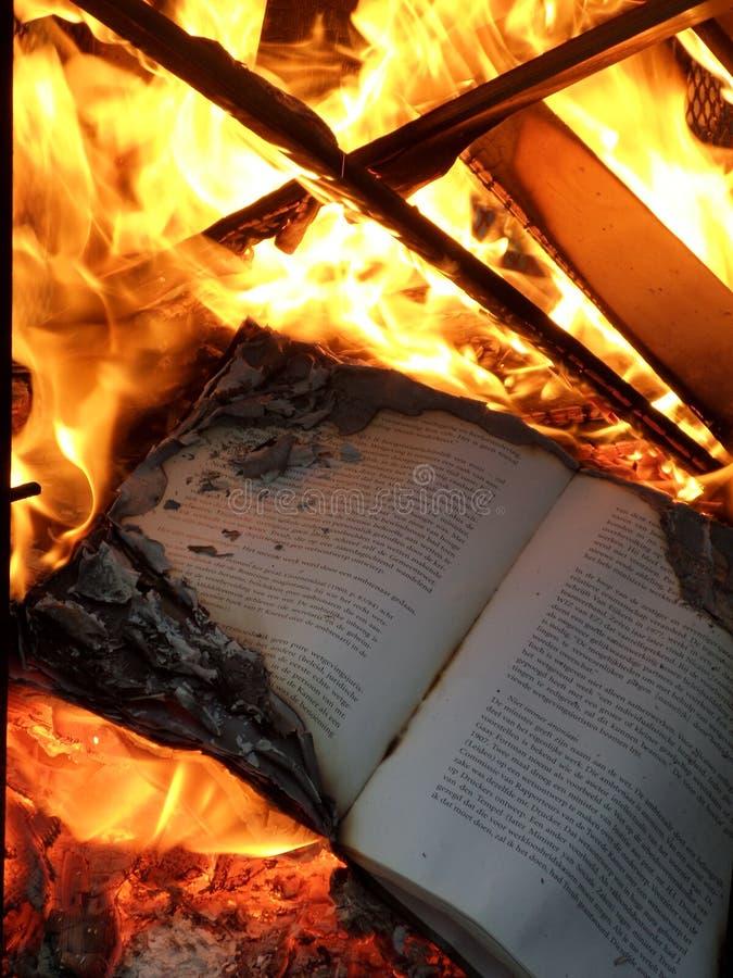 Burning de livre photographie stock libre de droits