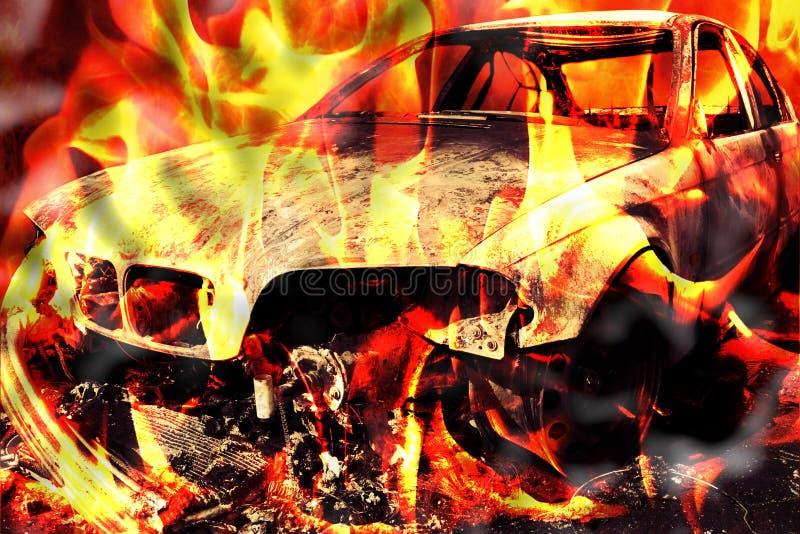Download Burning Del Incendio Provocado Del Fuego De La Llama Del Coche Foto de archivo - Imagen de encienda, coche: 44854086