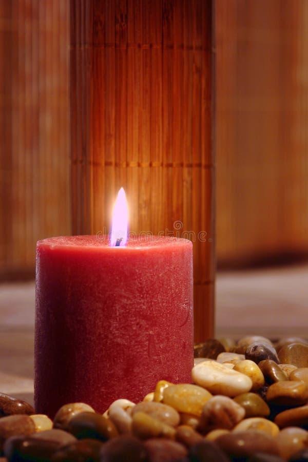 Burning della candela di Aromatherapy immagine stock