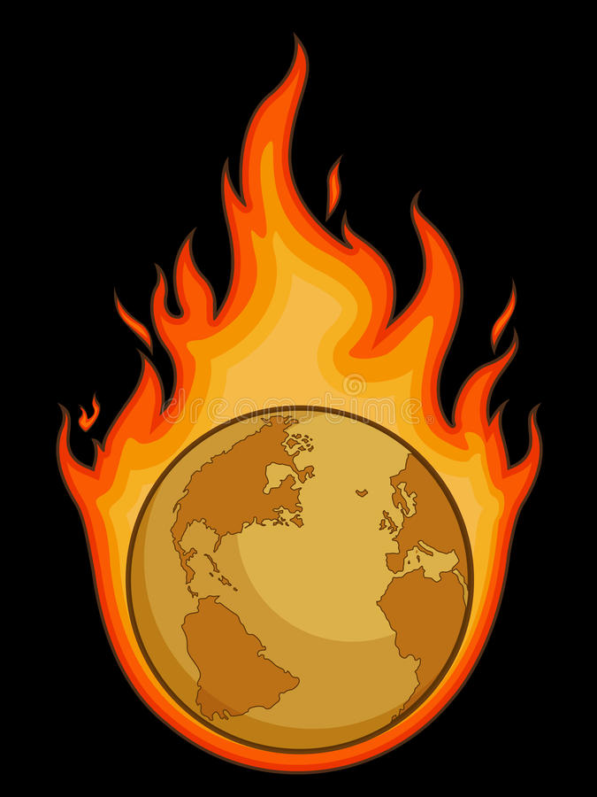 Download Burning Desolated Earth stock vector. Illustration of ecology - 27906936