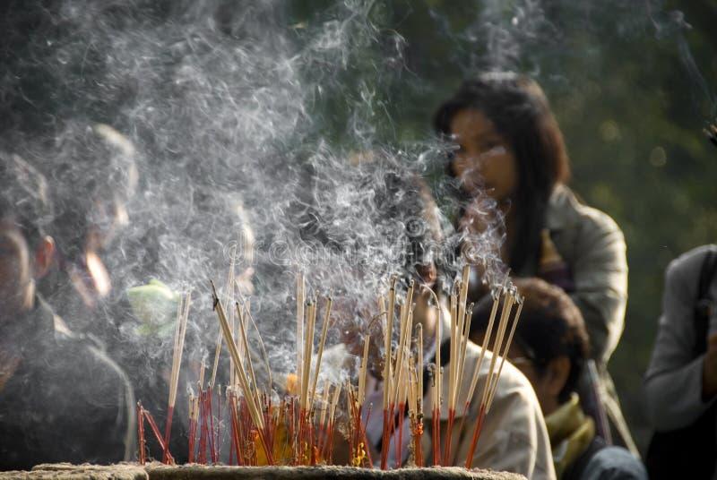 Burning di incenso fotografia stock
