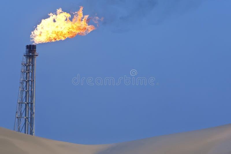Burning do gás fotografia de stock royalty free