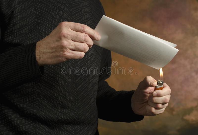 Download Burning document_2 stock image. Image of concept, hands - 18252837