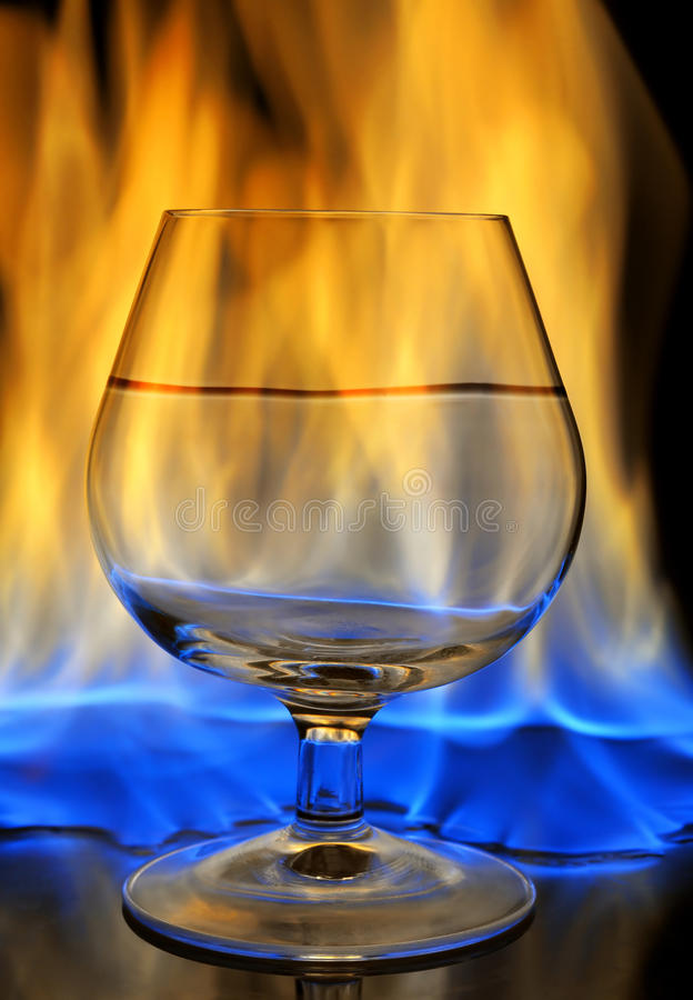 Burning Drink Royalty Free Stock Images