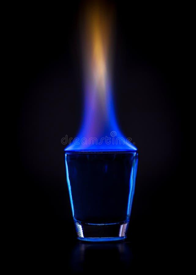Burning drink royalty free stock photos